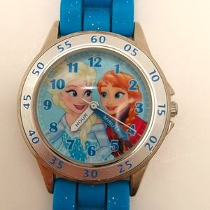 Disney Frozen Accutime Watch with Sparkle Band